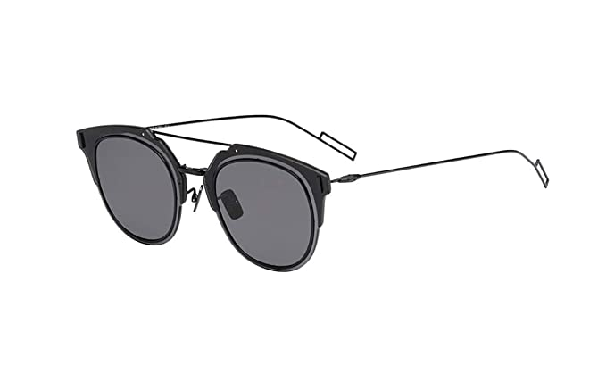 9aeb1d1f060 Image Unavailable. Image not available for. Color  Dior Homme Composit 1.0  006 Black Composit Round Sunglasses ...