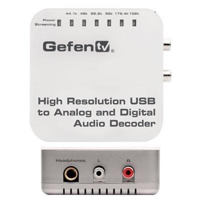 GEFEN GTV-192KUSB-2-ADAUD USB to Analog and Digital Audio Decoder by Gefen ()