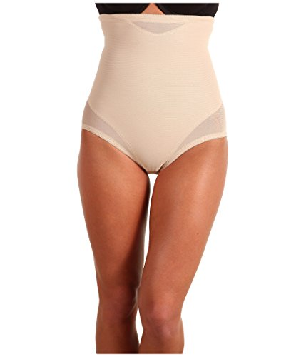 Miraclesuit Shapewear Women's Extra Firm Sexy Sheer Shaping Hi-Waist Brief, Nude 2XL