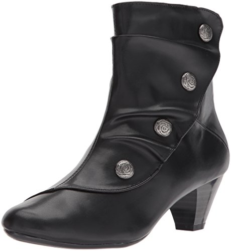 Kid Black Ankle Puppies Bootie Hush Women's Gilnora by Soft Style 7wzq8