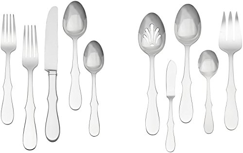 (Vera Wang Wedgwood 45-Piece Silhouette Flatware Set)