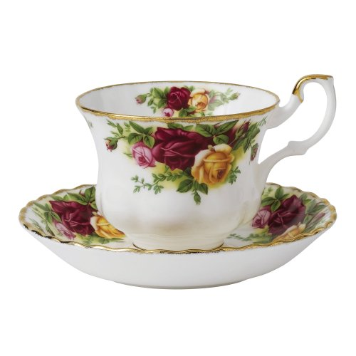 Royal Albert Old Country Roses Teacup & Saucer Set (Rose Red Tea England)