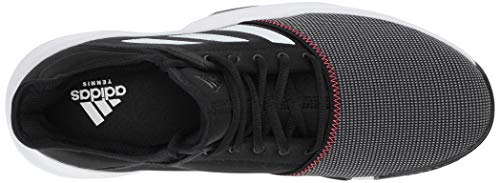 adidas Men's Gamecourt, Black/White/Shock red 8 M US by adidas (Image #7)
