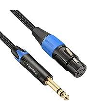 COLICOLY XLR naar 1/4 kabel, gebalanceerd XLR vrouwelijk naar 1/4 inch TRS Jack Kabel XLR naar Quarter inch Interconnect Lead Patch Cord - 2M