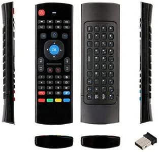 لوحة مفاتيح انجليزي توصيل لاسلكي متوافق مع جميع الاجهزة MX3 - لون اسود