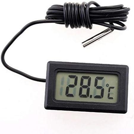 BWYFGRT Digital Wecker Temperatur-Und Feuchtigkeitsmessgerät Indoor Outdoor Hygrometer Thermometer Speicher Wetterstation.3M Fy-10
