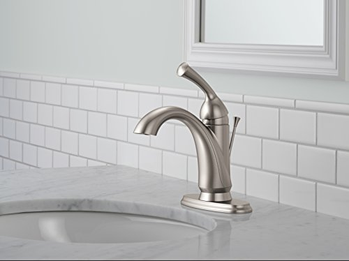 Brushed Nickel Faucet Waterfall Bathroom Spout Sink One: BWE Waterfall Spout Brushed Nickel Single Handle One Hole