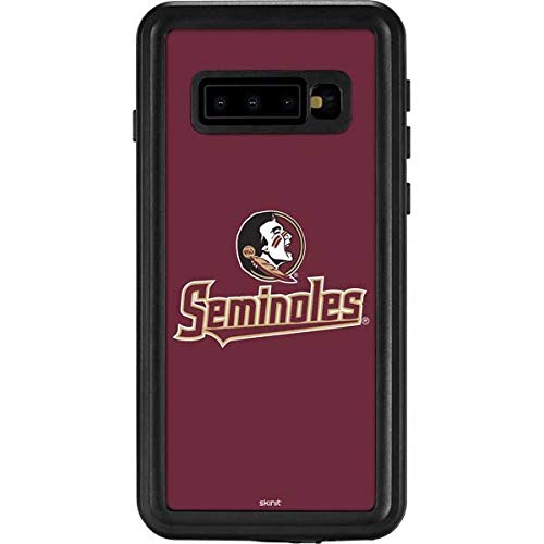 Skinit FSU Seminoles Galaxy S10 Waterproof Case - Officially Licensed Phone Case - Fully Submersible - Snow, Dirt, Water Protected Galaxy S10 Cover