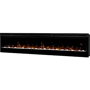 """Dimplex Prism 74"""" Wall Mount Linear Electric Fireplace Insert in Black"""