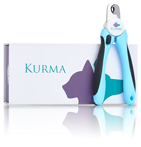Kurma Pet Supplies Dog And Cat Pet Nail Clippers and Trimmer with Safety Guard, Nail File and Storage Case