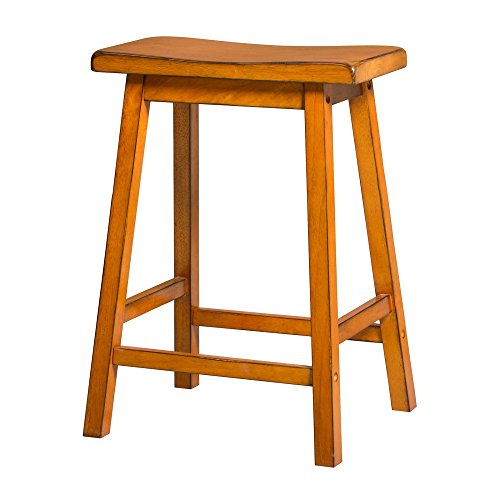 Acme Furniture Gaucho Counter Height Stool (Set of 2), Antique (Country Oak Bar Stool)