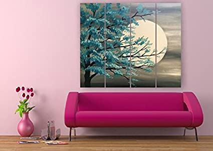 Printelligent Wall Painting Split Frames 45 Inch X 36 Inch Complete Size