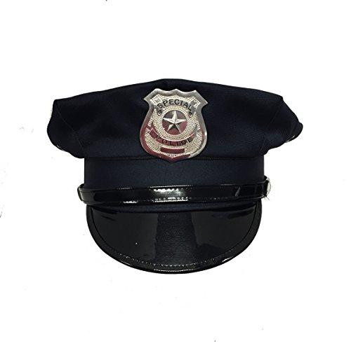 [Dark Navy Blue Costume Police Hat] (Cop Hat)