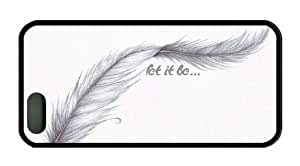 Feather Let it Be Quote Theme Iphone 5 5S Case Material