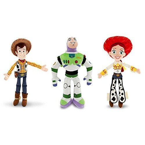 Disney Toy Story - Woody, Buzz Lightyear, and Jessie - Plush Doll Set of 3 -