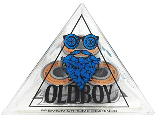 Oldboy Chrome Skateboard Bearings for Skateboards, Longboards, Quad Skates, Rollerblades or Scooters ()