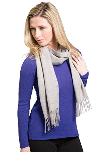 Fishers Finery Women's 100% Pure Cashmere Winter Scarf; Pill Resistant - Resistant Pill