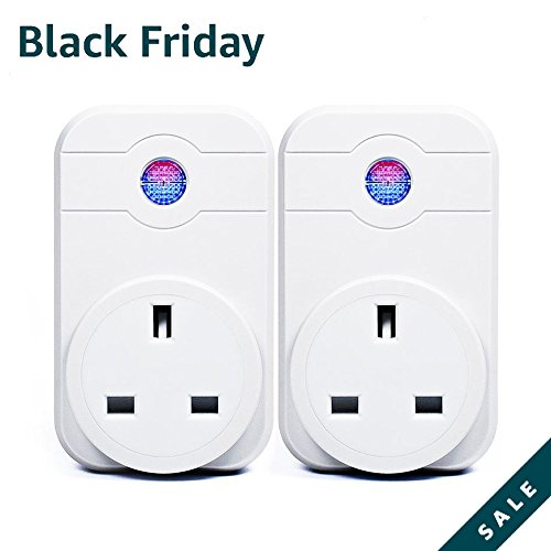 2 Pcs Wi-Fi Smart Plug Alexa – Horsky Remote Control Switch Socket Controlling Lights and Appliances by Phone Working with Amazon Echo