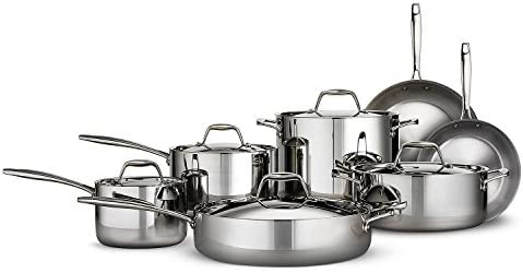 Tramontina Tri-ply Clad Stainless Steel Cookware Set – 12 Pcs. 18 10 Stainless Steel Induction Ready