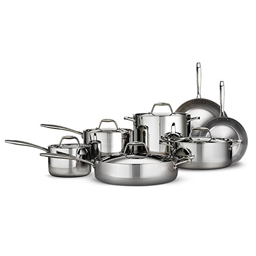 Tramontina Professional Cookware - Tramontina Tri-ply Clad Stainless Steel Cookware Set - 12 Pcs. 18/10 Stainless Steel & Induction Ready
