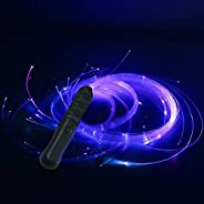 FXY Xinyi Fiber Optic Whip, 6ft led Glow Whips Flash Rope, 360° Swivel Pixel Rave Whip Rechargeable Multicolo