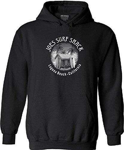 Joe's Surf Shack Vintage Logo Logo Hooded Sweatshirt -Black/w-M ()