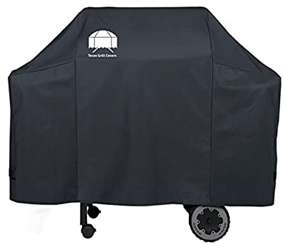 Texas Grill Covers 7573 Premium Cover for Weber Spirit 200/300 and Genesis Silver A/B Gas Grills Including Brush and Tongs by Texas Grill Covers