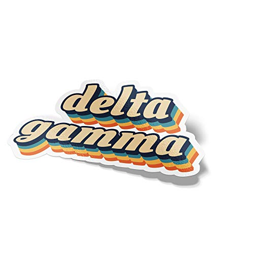 Desert Cactus Delta Gamma 70's Letter Sticker Decal Greek Tall for Window Laptop Computer Car dg