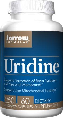 Prend en charge l'Uridine de formules de Jarrow, cerveau, mémoire, santé du foie, 250 Mg, 60 capsules