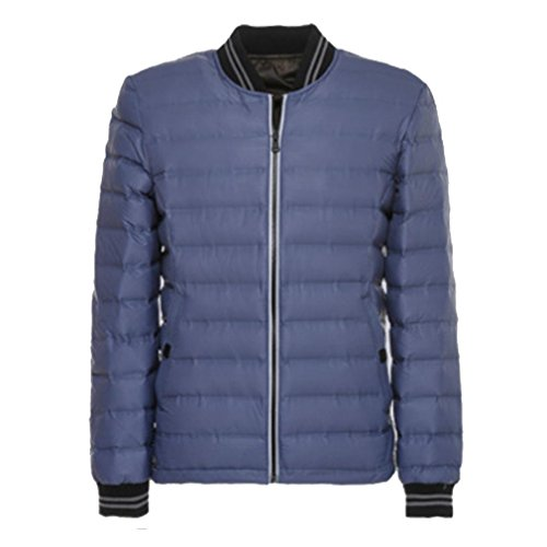 YANXH The New Light and thin Down jacket Men Both Sides Wear Stand Collar Coat , navy , l by YANXH outdoors