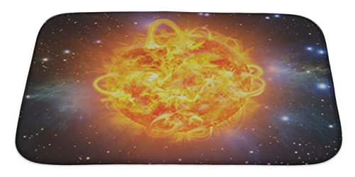 Gear New Solar Explosion Bath Rug Mat No Slip Microfiber Memory Foam by Gear New