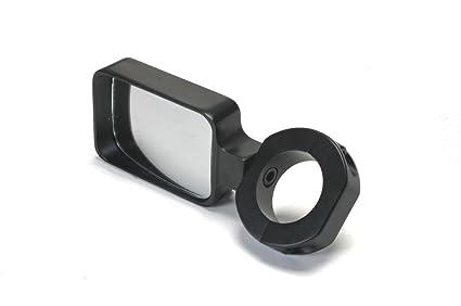 Billet Aluminum Black Mirror with Convex Lens for 1 75 Inch Roll Cage  Tubing For Dune Buggy, Sandrail, Atv, Polaris Rzr, UTV, Sand Rail
