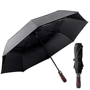 "diglot resistente al viento paraguas plegable paraguas automático abrir Cerrar, ""irrompible"" ligero 8costillas automático viento toldo compacto con luz reflectante"