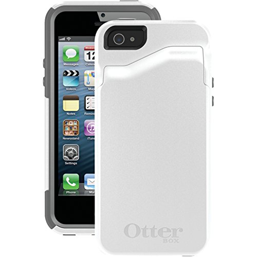OtterBox COMMUTER WALLET SERIES Case for iPhone 5/5s/SE - Retail Packaging - GLACIER (WHITE/GUNMETAL GREY)