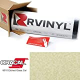 ORACAL 8510 Gold Fine 8510-091 Etched Calendered Film 2ft x 10yd W/Application Card Vinyl Film Sheet Roll - for Cricut, Silhouette Cameo, Craft and Sign Cutters