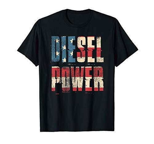 Diesel Power Flag | Truck Turbo Mechanic T-Shirt (Diesel Womens Apparel)