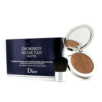 Christian Dior Skin Nude Tan Matte Extra Sun Powder with Kabuki Brush, No. 002 Matte Amber, 0.35 (Amber Matte)