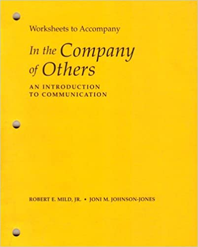 Amazon.com: Worksheets t/a In the Company Of Others (Introduction ...