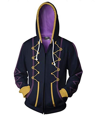 Dawn BG Emblem Cosplay Hoodie Unisex 3D Printed Hooded Jacket Outfit (L, Purple) ()
