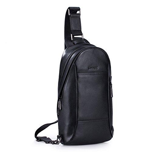 8272ab1dda83 Sammons® Genuine Leather Backpack Chest Pack Daypack Sling ...