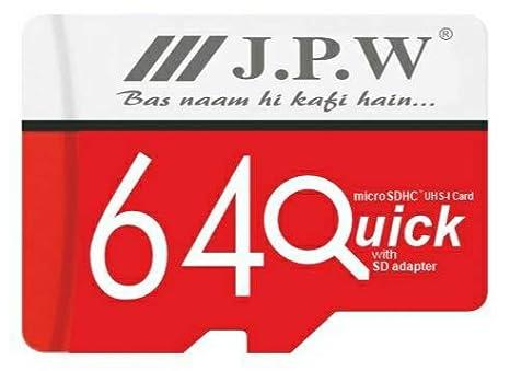 J.P.W Select 64 GB Class 10 Memory Card