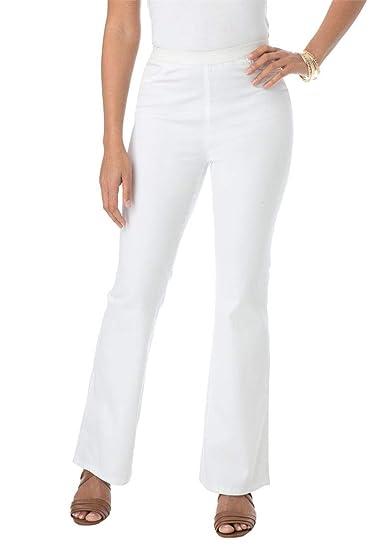 e19ef013014 Jessica London Women s Plus Size Tall Bootcut Stretch Denim Jeggings -  White Twill