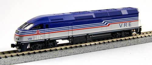 Kato USA Model Train Products MPI MP36PH #V52 Virginia Railway Express N Scale Train