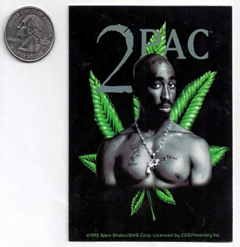 - Gear Tatz Tupac Shakur Leaf Sticker/Decal