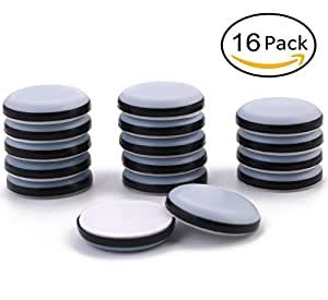 Wonderful 1 1/4u0026quot; Adhesive Furniture Glides Sliders FURNIGEAR Heavy Duty PTFE (
