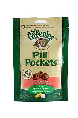 Pill Pockets for Cats SALMON 1.6 oz (45 pockets)