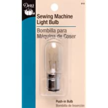 Dritz 910 Sewing Machine Light Bulb for Sewing Product, Push