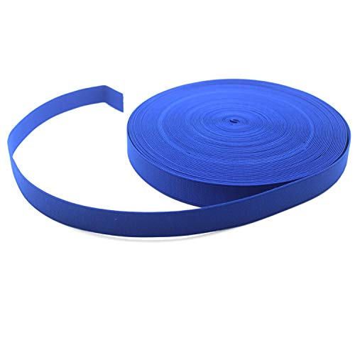 Yzsfirm 3/5 Inch High Elastic Band,18 Yards Elastic Spool Knit Bands Blue Braided Band for Sewing and Hair Wigs with Heavy Stretch
