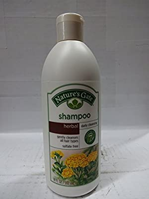 Nature's Gate Daily Cleansing Shampoo for All Hair Types, Herbal, (18 fl oz) (532 ml)