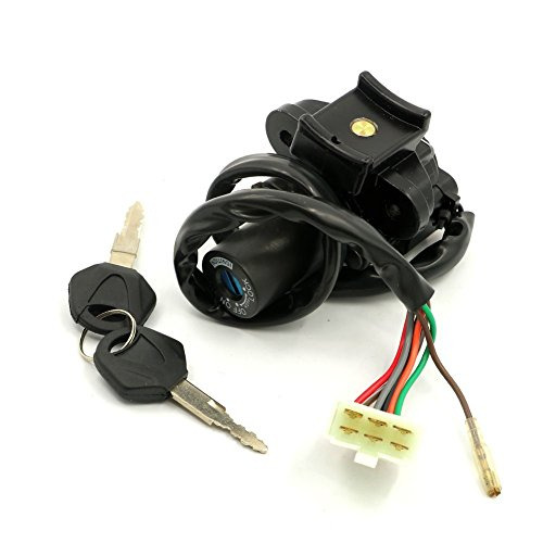 Alpha Rider Ignition Switch Lock Keys For Kawasaki Ninja ZX9R 1994 - 2003 ZXR750 1991-1994 ZZR400 1993-2006 ZZR600 1993-2004 ZX6R 2000-2002 ZX7R ZX-7RR all year
